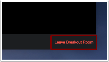 Image of Leave Breakout Rooms text in bright red in lower right hand corner