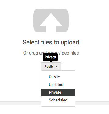 File upload screen
